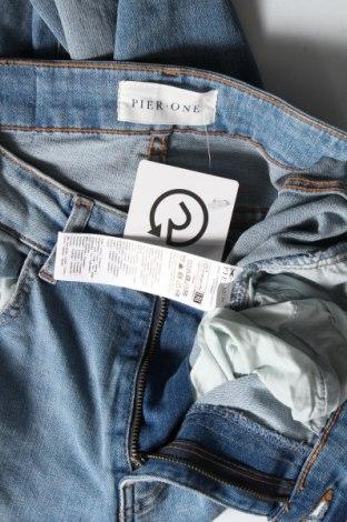 Мъжки дънки Pier One, Размер S, Цвят Син, 99% памук, 1% еластан, Цена 29,68лв.