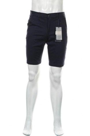 Мъжки къс панталон Kronstadt, Размер S, Цвят Син, 98% памук, 2% еластан, Цена 36,75лв.