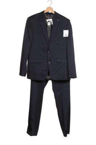 Мъжки костюм Bruno Banani, Размер S, Цвят Син, 84% полиестер, 14% вискоза, 2% еластан, Цена 67,25лв.