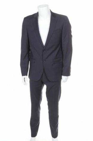 Ανδρικό κοστούμι Bugatti, Μέγεθος L, Χρώμα Μπλέ, Μαλλί, Τιμή 122,33€