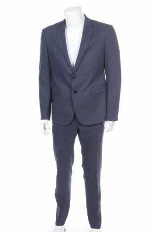 Ανδρικό κοστούμι Emporio Armani, Μέγεθος XL, Χρώμα Μπλέ, 37% μαλλί, 37% βισκόζη, 24% πολυεστέρας, 2% ελαστάνη, Τιμή 289,36€