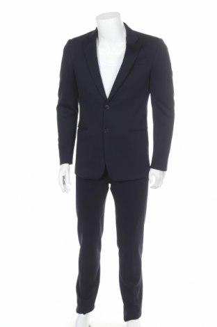 Ανδρικό κοστούμι Emporio Armani, Μέγεθος M, Χρώμα Μπλέ, 57% βισκόζη, 29% πολυαμίδη, 9% μαλλί, 5% ελαστάνη, Τιμή 234,50€