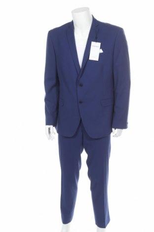 Ανδρικό κοστούμι Limehaus, Μέγεθος XL, Χρώμα Μπλέ, 70% πολυεστέρας, 28% βισκόζη, 2% ελαστάνη, Τιμή 69,20€