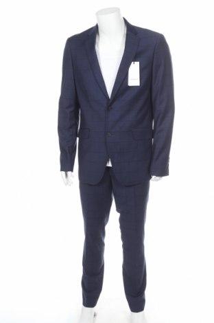 Ανδρικό κοστούμι Lindbergh, Μέγεθος XL, Χρώμα Μπλέ, 78% πολυεστέρας, 20% βισκόζη, 2% ελαστάνη, Τιμή 76,94€