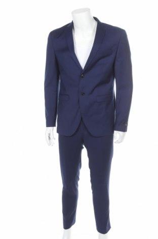 Ανδρικό κοστούμι Premium By Jack & Jones, Μέγεθος L, Χρώμα Μπλέ, 74% πολυεστέρας, 23% βισκόζη, 3% ελαστάνη, Τιμή 67,36€