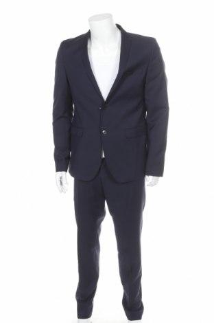 Ανδρικό κοστούμι S.Oliver, Μέγεθος L, Χρώμα Μπλέ, Μαλλί, Τιμή 92,40€