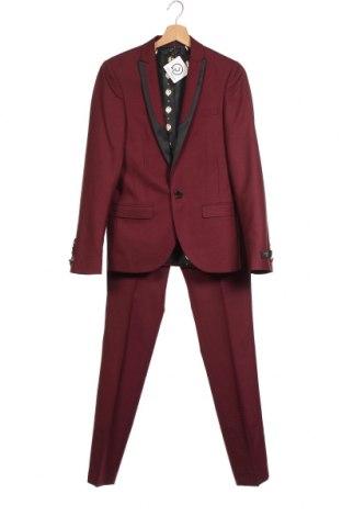 Ανδρικό κοστούμι Twisted Tailor, Μέγεθος S, Χρώμα Κόκκινο, 50% μαλλί, 50% πολυεστέρας, Τιμή 79,02€