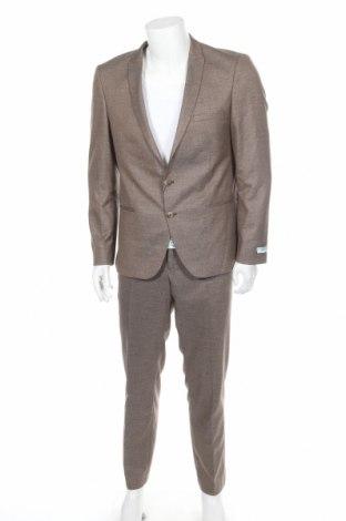 Ανδρικό κοστούμι Viggo, Μέγεθος XL, Χρώμα Καφέ, 64% πολυεστέρας, 34% βισκόζη, 2% ελαστάνη, Τιμή 146,38€