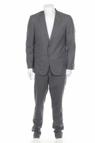 Ανδρικό κοστούμι Faconnable, Μέγεθος L, Χρώμα Γκρί, Ασετάτ, Τιμή 136,35€