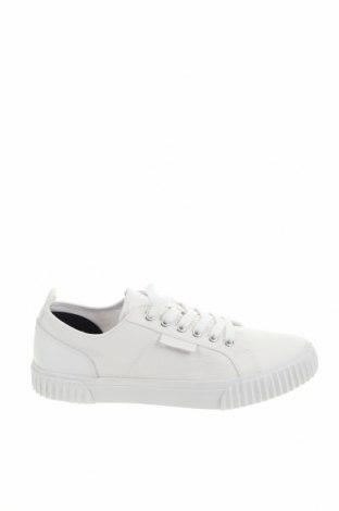 Мъжки обувки Lyle & Scott, Размер 40, Цвят Бял, Текстил, естествена кожа, Цена 111,75лв.