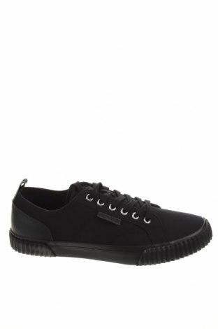 Мъжки обувки Lyle & Scott, Размер 43, Цвят Черен, Текстил, естествена кожа, Цена 111,75лв.