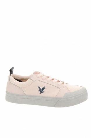 Мъжки обувки Lyle & Scott, Размер 42, Цвят Розов, Текстил, естествена кожа, Цена 50,31лв.