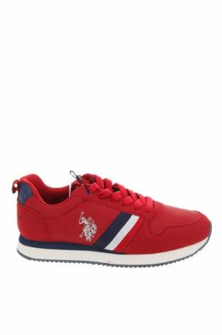 Ανδρικά παπούτσια U.S. Polo Assn., Μέγεθος 40, Χρώμα Κόκκινο, Κλωστοϋφαντουργικά προϊόντα, Τιμή 57,60€