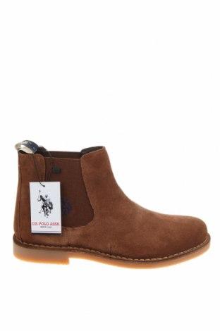 Ανδρικά παπούτσια U.S. Polo Assn., Μέγεθος 43, Χρώμα Καφέ, Φυσικό σουέτ, Τιμή 76,94€