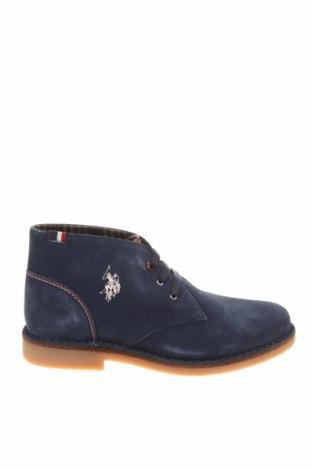 Ανδρικά παπούτσια U.S. Polo Assn., Μέγεθος 41, Χρώμα Μπλέ, Φυσικό σουέτ, Τιμή 76,94€