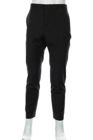 Pantaloni de bărbați AllSaints, Mărime L, Culoare Negru, 51% poliester, 44% lână, 5% elastan, Preț 98,19 Lei