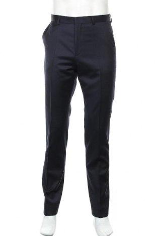 Ανδρικό παντελόνι Hugo Boss, Μέγεθος M, Χρώμα Μπλέ, 100% μαλλί, Τιμή 138,79€