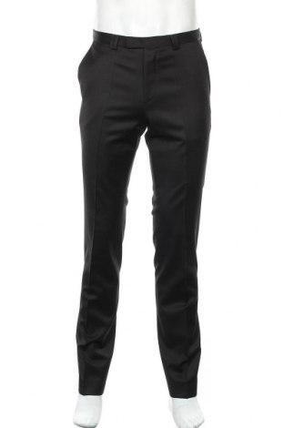 Ανδρικό παντελόνι Hugo Boss, Μέγεθος M, Χρώμα Μαύρο, 100% μαλλί, Τιμή 138,79€