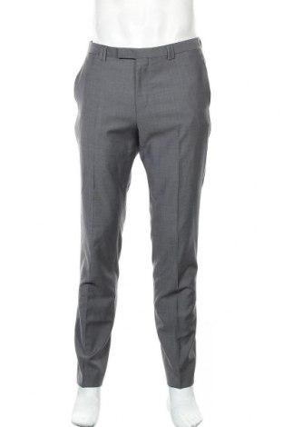 Ανδρικό παντελόνι Hugo Boss, Μέγεθος L, Χρώμα Γκρί, 100% μαλλί, Τιμή 138,79€