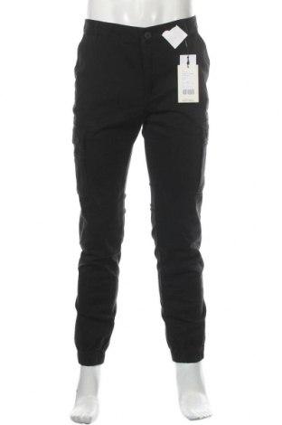 Мъжки панталон Pier One, Размер M, Цвят Черен, 98% памук, 2% еластан, Цена 39,00лв.