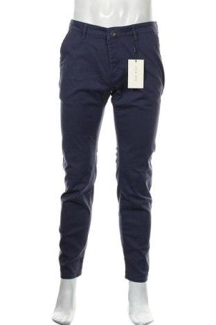 Мъжки панталон Pier One, Размер M, Цвят Син, 98% памук, 2% еластан, Цена 44,25лв.