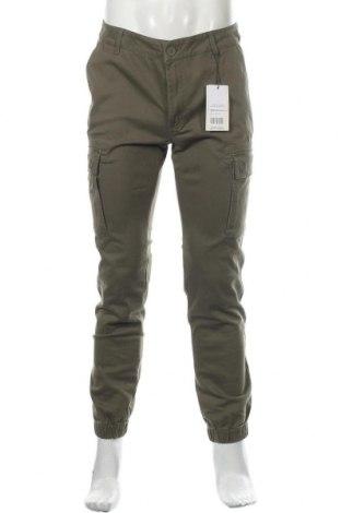 Мъжки панталон Pier One, Размер M, Цвят Зелен, 98% памук, 2% еластан, Цена 29,64лв.