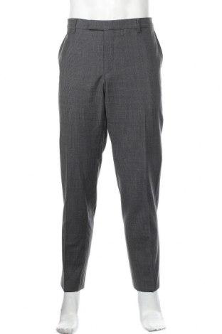 Мъжки панталон Pierre Cardin, Размер XL, Цвят Сив, 57% полиестер, 39% вълна, 4% еластан, Цена 25,02лв.