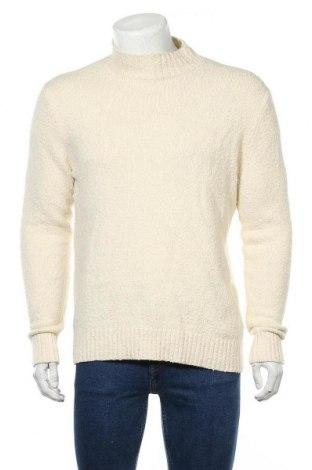 Ανδρικό πουλόβερ Drykorn for beautiful people, Μέγεθος M, Χρώμα Εκρού, 88% βαμβάκι, 10% πολυαμίδη, 2% ελαστάνη, Τιμή 16,48€
