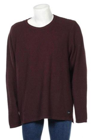 Мъжки пуловер Only & Sons, Размер 4XL, Цвят Червен, 90% памук, 10% полиамид, Цена 35,28лв.