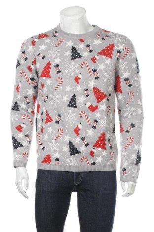 Мъжки пуловер Only & Sons, Размер M, Цвят Сив, 100% акрил, Цена 27,72лв.