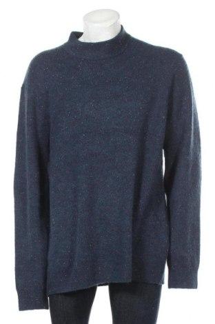 Ανδρικό πουλόβερ Only & Sons, Μέγεθος 3XL, Χρώμα Μπλέ, 64%ακρυλικό, 22% πολυεστέρας, 10% μαλλί, 4% ελαστάνη, Τιμή 16,50€