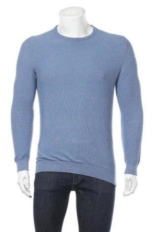 Ανδρικό πουλόβερ S.Oliver, Μέγεθος S, Χρώμα Μπλέ, Βαμβάκι, Τιμή 9,28€