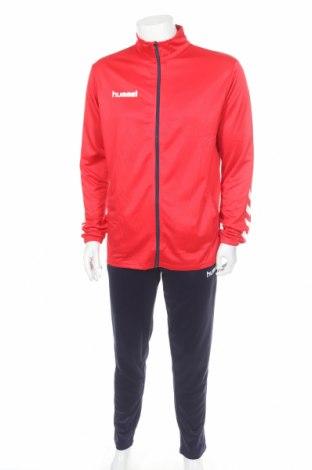 Мъжки спортен комплект Hummel, Размер L, Цвят Червен, Полиестер, Цена 81,75лв.