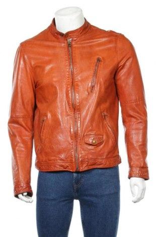 Мъжко кожено яке Scotch & Soda, Размер L, Цвят Оранжев, Естествена кожа, Цена 144,00лв.