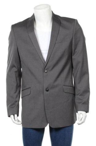 Мъжко сако Angelo Litrico, Размер L, Цвят Сив, 80% полиестер, 20% вискоза, Цена 6,30лв.