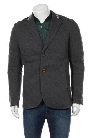 Ανδρικό σακάκι Desigual, Μέγεθος L, Χρώμα Γκρί, Βαμβάκι, Τιμή 94,29€