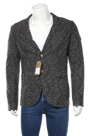 Ανδρικό σακάκι Desigual, Μέγεθος L, Χρώμα Γκρί, 52% λινό, 48% βαμβάκι, Τιμή 76,77€