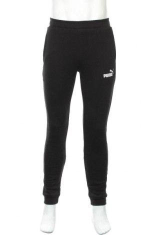 Pantaloni trening de bărbați PUMA, Mărime S, Culoare Negru, 68% bumbac, 32% poliester, Preț 156,32 Lei