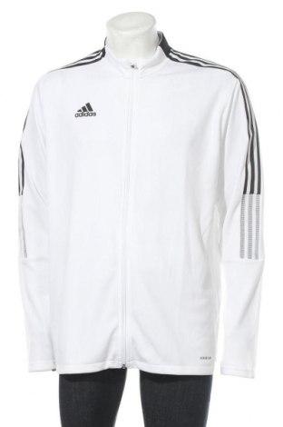 Ανδρική αθλητική ζακέτα Adidas, Μέγεθος XL, Χρώμα Λευκό, Πολυεστέρας, Τιμή 32,12€