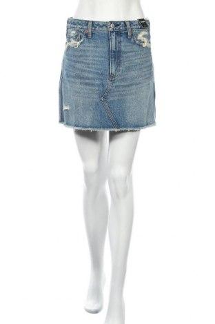 Sukně Abercrombie & Fitch, Velikost M, Barva Modrá, Bavlna, Cena  344,00Kč