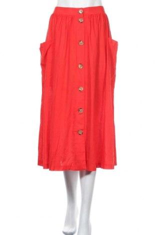 Φούστα Blend She, Μέγεθος L, Χρώμα Κόκκινο, 85% βισκόζη, 15% λινό, Τιμή 26,68€