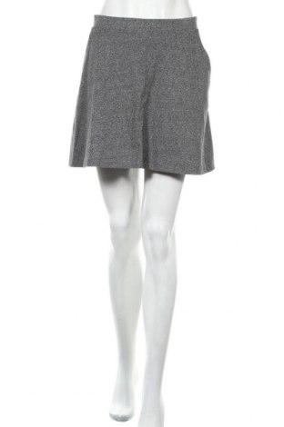 Φούστα H&M Divided, Μέγεθος L, Χρώμα Γκρί, 57% βαμβάκι, 41% πολυεστέρας, 2% ελαστάνη, Τιμή 13,46€