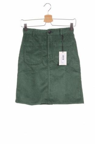 Φούστα Leon & Harper, Μέγεθος XS, Χρώμα Πράσινο, 99% βαμβάκι, 1% ελαστάνη, Τιμή 44,17€