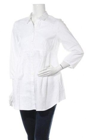 Риза за бременни, Размер L, Цвят Бял, Памук, Цена 29,25лв.