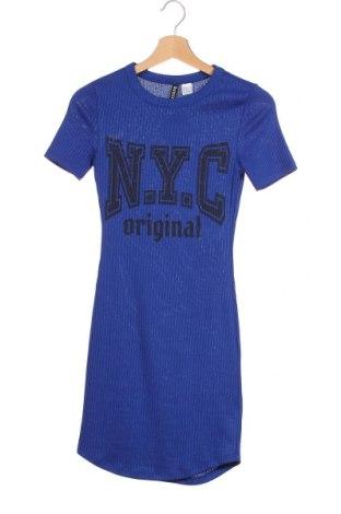Φόρεμα H&M Divided, Μέγεθος XXS, Χρώμα Μπλέ, 66% πολυεστέρας, 30% βισκόζη, 4% ελαστάνη, Τιμή 12,47€