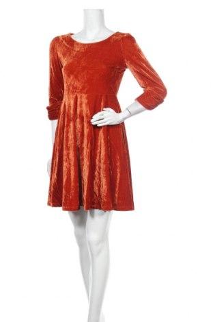 Рокля Kling, Размер S, Цвят Оранжев, Полиестер, Цена 23,46лв.