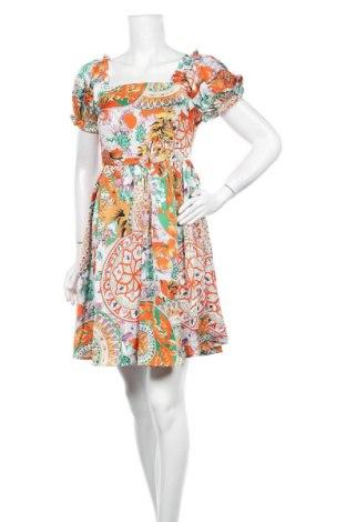 Φόρεμα Pieces, Μέγεθος S, Χρώμα Πολύχρωμο, Πολυεστέρας, Τιμή 26,68€