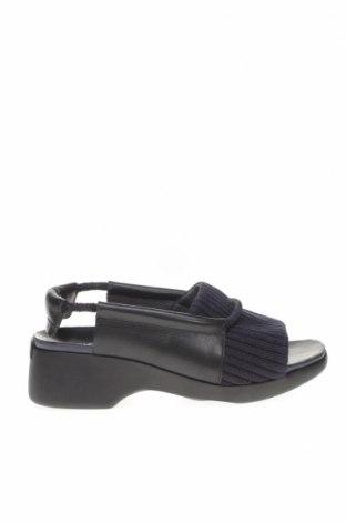 Σανδάλια Camper, Μέγεθος 39, Χρώμα Μαύρο, Γνήσιο δέρμα, κλωστοϋφαντουργικά προϊόντα, Τιμή 89,50€