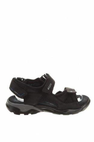 Sandály Ecco, Velikost 37, Barva Černá, Pravá kůže, Přírodní velur , Cena  870,00Kč