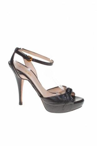 Σανδάλια Prada, Μέγεθος 39, Χρώμα Μαύρο, Γνήσιο δέρμα, Τιμή 78,79€